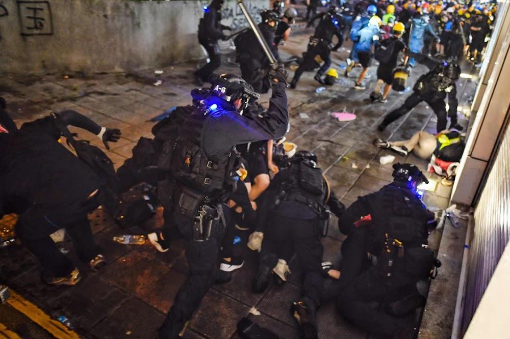 Hongkong-toerisme tref die skyfies omdat protesoptredes die ekonomie beïnvloed