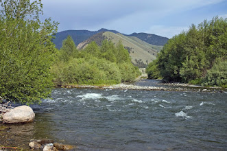 Photo: The Madison River just behind the Slide Inn