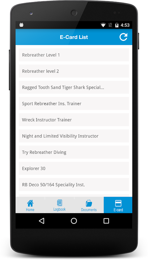 LearnToScuba App- screenshot