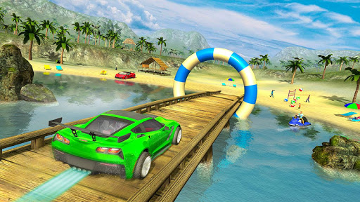 Water Surfer car Floating Beach Drive  screenshots 1