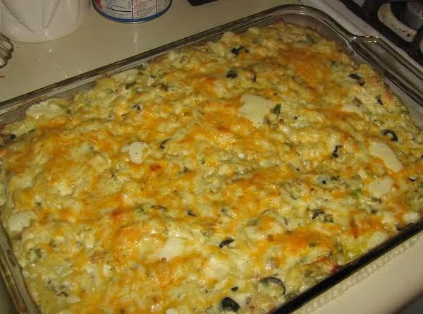 Southwestern Creamy Chicken Pasta Bake