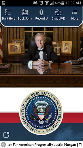 John Morgan as George W. Bush