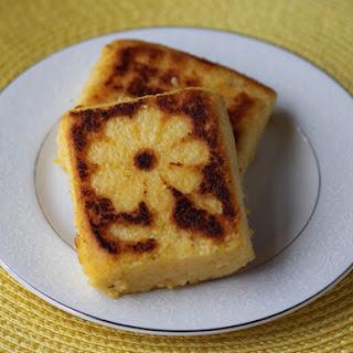 Cheesy Fried Polenta