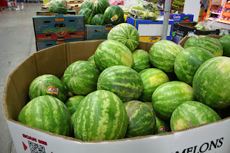 Photo: Their watermelons were just $4.99 which is really good because they were HUGE!