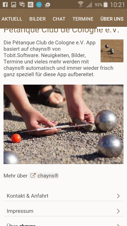 Petanque Club de Cologne e.V.- screenshot