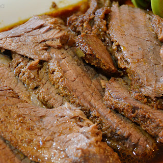 Easy Oven-Roasted Beef Brisket from Paula Deen {Recipe}.