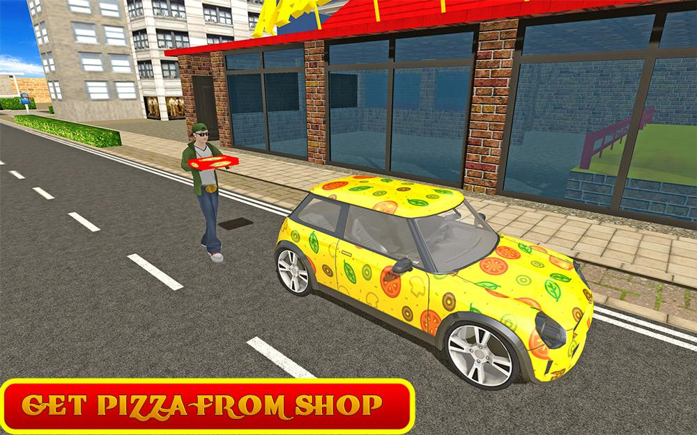 Pizza Delivery Game Car