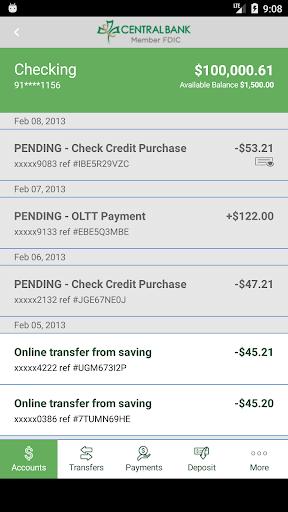 Central Bank Mobile Banking screenshot 4