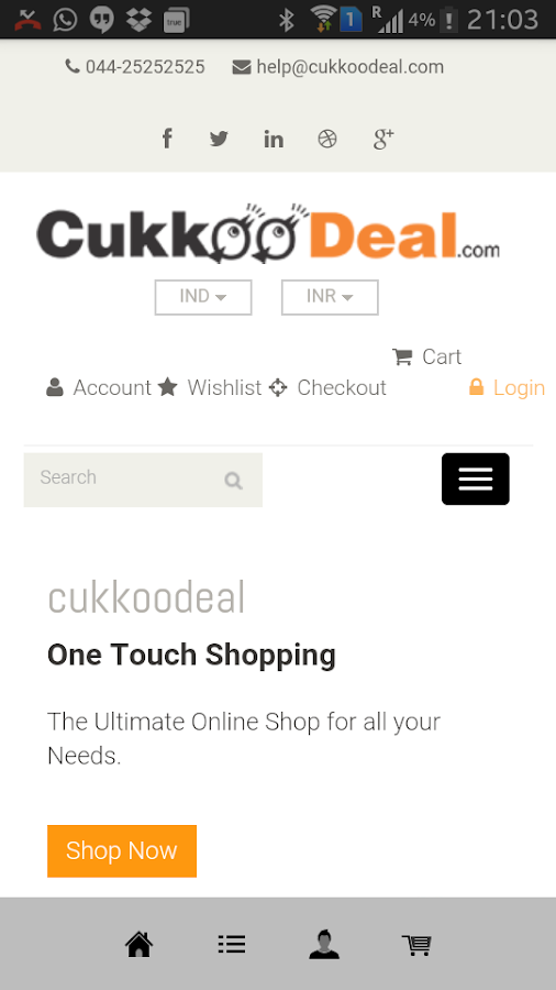 Cukkoodeals- screenshot