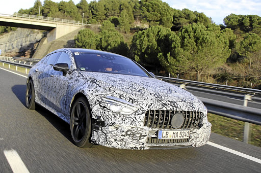 Prototypes of the Mercedes AMG GT four-door have been testing around the world. Picture: DAIMLER