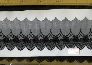Photo: №447116-992チュールレース黒:巾80mm 13.7m*¥237/m
