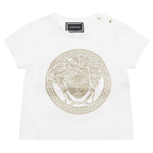 Primary image of Young Versace Glitter Logo Top