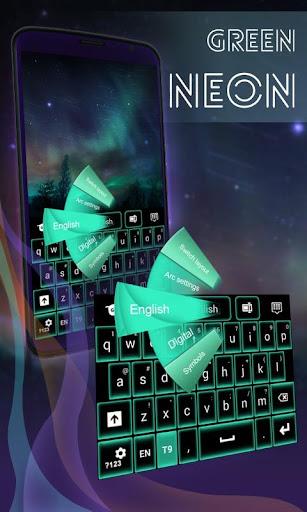绿色霓虹灯键盘GO