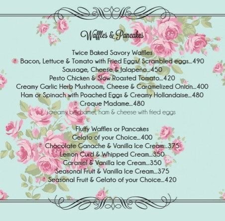 Rose Cafe menu 15