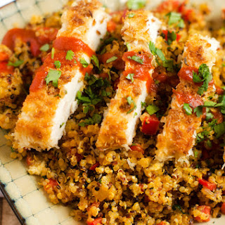 Coconut Chicken with Pineapple Fried Quinoa.
