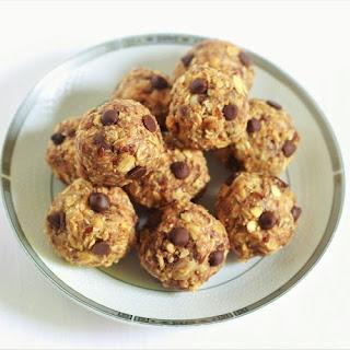 No Bake Peanut Butter Oatmeal Balls