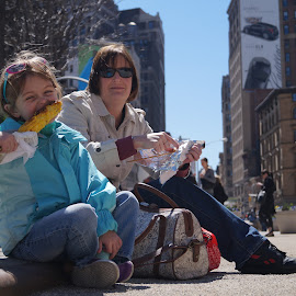 corn  by Mark Thompson - Food & Drink Eating ( street food, corn, corn on the cob, kerbside, usa 2014, new york,  )