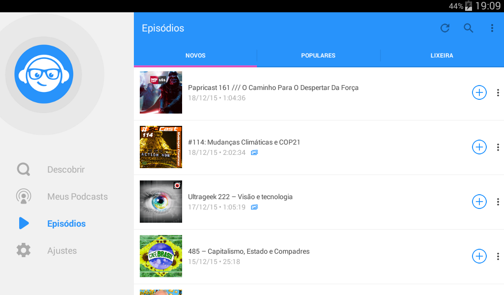 WeCast - Podcasts: captura de tela