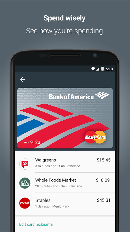Android Pay- screenshot