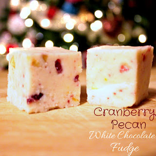 Cranberry Pecan White Chocolate Fudge
