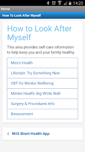 NHS Brent Health App- screenshot thumbnail
