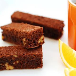 Chocolate Brownie With Orange