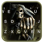 ثيم لوحة المفاتيح Scary Grim Reaper APK