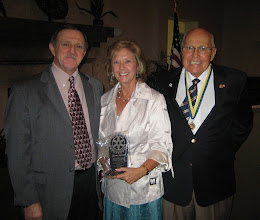 "Photo: Ruth was presented with the ""Service Above Self""  Rotary Award."