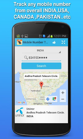 Mobile Number Tracker 1.7 screenshot 555412
