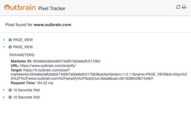 Outbrain Pixel Tracker