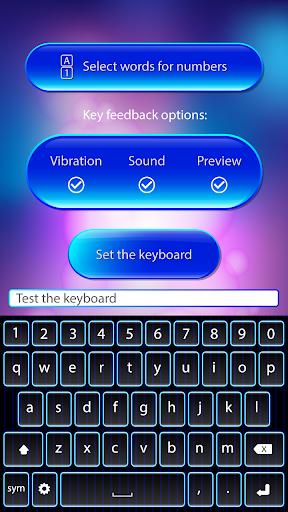 玩免費個人化APP|下載青いネオンキーボード app不用錢|硬是要APP