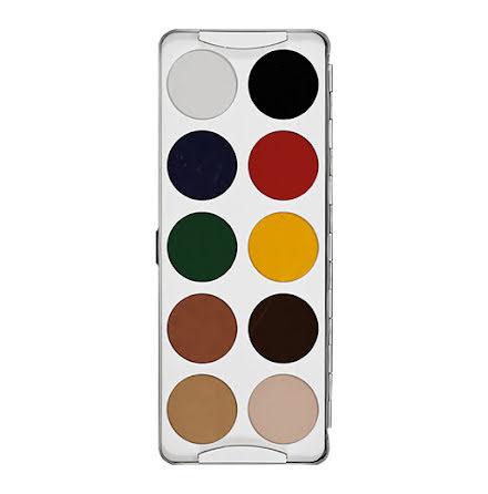 Smink, färgpalett 10 färger