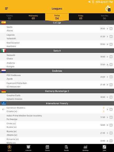 Live Soccer Scores 2.1.0 screenshots 9