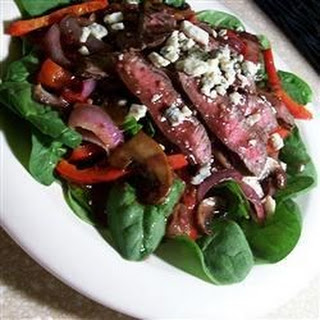 Flat Iron Steak and Spinach Salad
