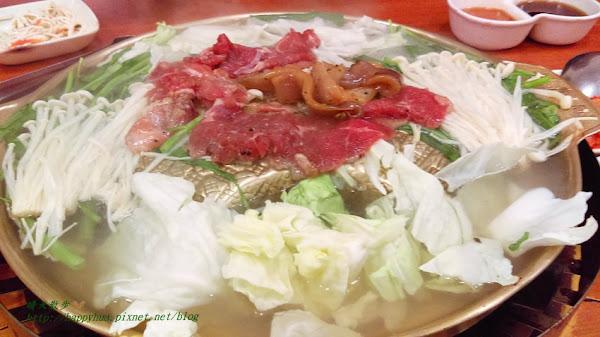 韓香亭~台中銅盤烤肉吃到飽 韓式泡菜鍋、韓式海鮮煎餅、泡菜煎餅 還有四款小菜無限續