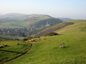 Purbeck Hills and Corfe Castle