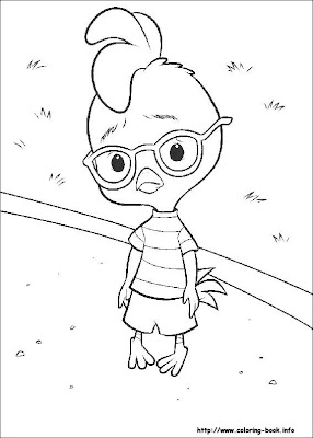 a desenhar chicken little colorir