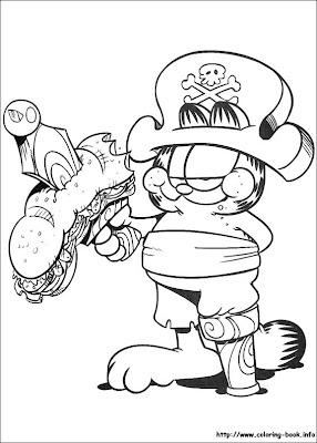garfield coloring colorir