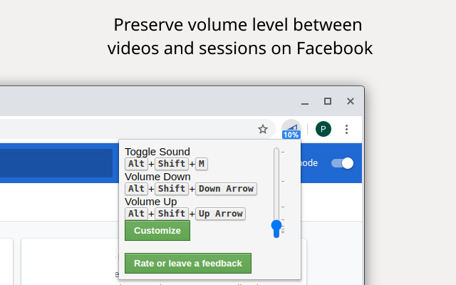 Sound and video fixes for Facebook