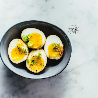 Japanese Soy Marinated Soft Boiled Eggs.
