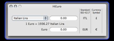 HiEuro screenshot - version 0.2