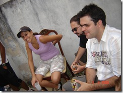 Angela, Eu, Tiago.