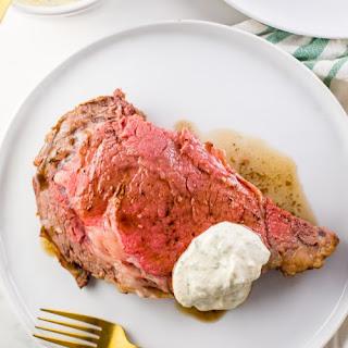Easy Prime Rib Recipe with Au Jus and Perfect Creamy Horseradish Sauce (Paleo, Whole30 Options) Recipe