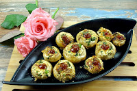 Mushroom Stuffed with Paneer