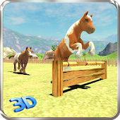 Pony Horse Kids Race 3D