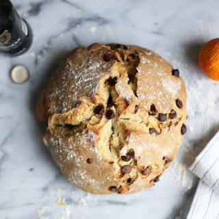Orange Marmalade Irish Soda Bread with Chocolate Chips.