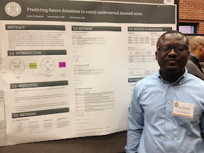 Photo: Doctoral student Isaac Nuamah at 2014 COE Poster Competition