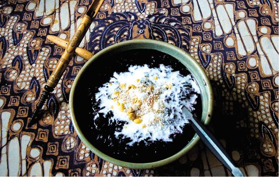 Black Rice Pudding (Bubuh injin) recipe. From A Traveler's Guide to Balinese Street Food