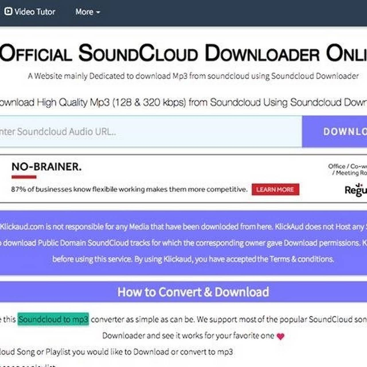 SoundCloud Downloader- KlickAud - A simple Online Tool for