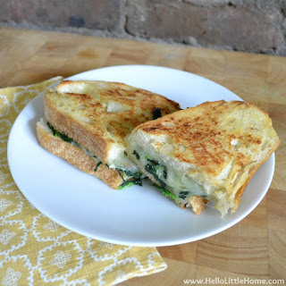 Broccoli Rabe and Provolone Grilled Cheese